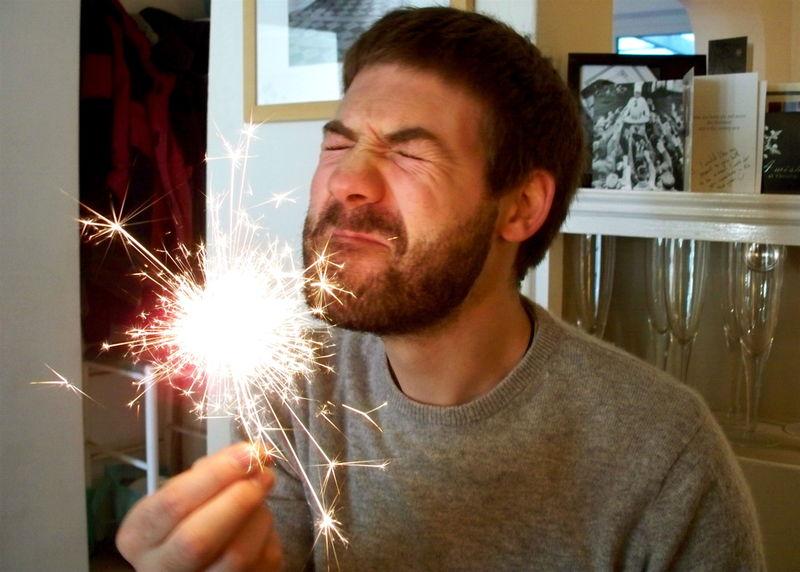 Steve funny face sparkler