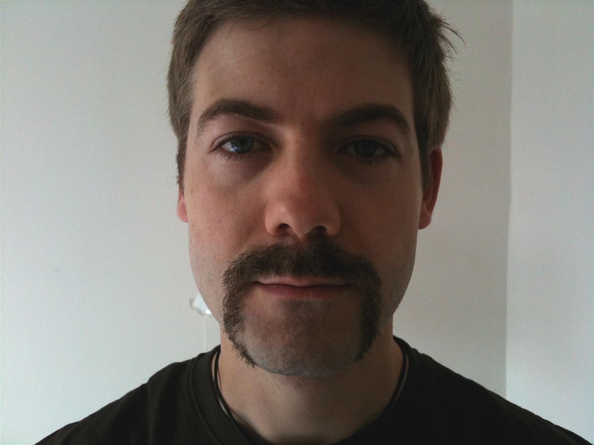 Steve Handlebar Mustache After