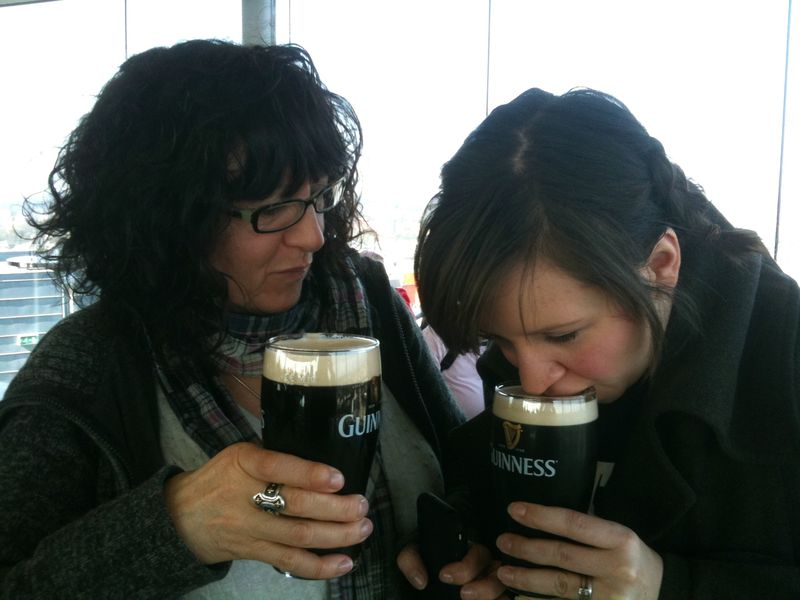 Mum Carla Dunking in Guiness